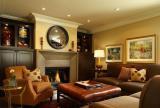 美式客厅燃气壁炉效果图