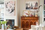 吊頂照片墻西班牙風格兩室一廳客廳電視背景墻裝修圖片西班牙風格兩室一廳儲物柜圖片效果圖