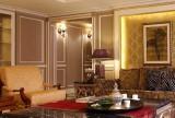 雕花隔断120㎡新古典大户型茶几奢华与个性相融合展现客厅新感觉效果图大全