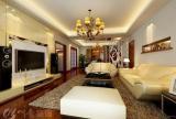 130㎡三居室简约风格客厅电视背景墙装修效果图简约风格置物台图片