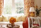 清新窗帘120㎡茶几大户型单身公寓沙发金秋时节的客厅摸样效果图