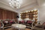 吊顶欧式风格别墅客厅沙发坐垫效果图