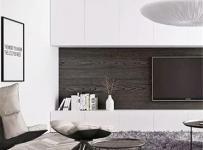 电视柜收纳柜实用简约客厅电视背景墙装修图效果图