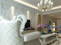 欧式与古典欧式四居室客厅吊顶装修效果图欣赏