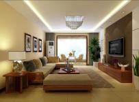 電視背景墻三居吊頂混搭風格客廳裝修效果圖