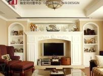 新古典风格欧式风格公寓古典原木色富裕型客厅背景墙沙发图片效果图