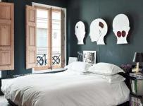單身公寓臥室客廳背景墻寓意鮮明的床頭背景墻裝修效果圖