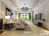 新古典風格三居室客廳儲物柜裝修效果圖大全