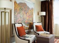 地毯沙發背景墻客廳沙發客廳背景墻新古典風格的休閑角落設計裝修效果圖