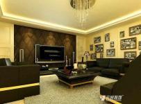 复式楼吊顶电视柜280平米复式简欧风格客厅电视背景墙装修效果图简欧风格茶几图片