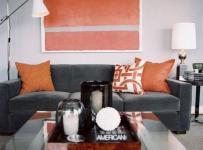 橙色波普风客厅效果图