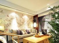 新中式風格溫馨舒適兩室一廳100平米新中式裝修客廳設計效果圖