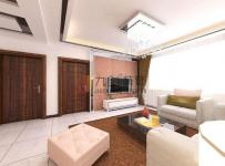 时尚客厅棕色地毯图片效果图