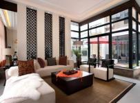 新中式风格客厅沙发背景墙装修图片新中式风格茶几图片效果图大全