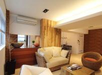 二居室混搭风格公寓富裕型客厅沙发台湾家居效果图