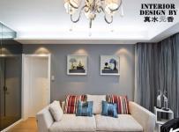 彩色简约风格公寓时尚富裕型客厅沙发背景墙沙发图片效果图
