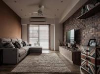 休闲沙发搁板家具电视背景墙简约电视柜地毯大两室客厅侧面整体装修图片效果图大全