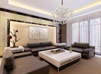 中式中式风格新中式客厅背景墙沙发客厅沙发装修案例效果图
