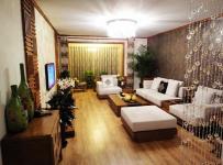 新中式风格客厅背景墙装修图片新中式风格方凳图片效果图大全
