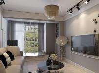 迷死80后的装修风格黑白灰色调客厅效果图欣赏