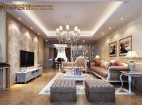 沙发背景墙混搭风格三居室客厅电视背景墙装修效果图混搭风格吊顶图片