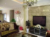 簡歐風格躍層客廳照片墻裝修效果圖大全