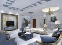 家居摆件吊顶楼梯茶几电视柜混搭风格客厅电视背景墙装修效果图混搭风格沙发图片