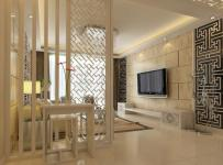新中式风格客厅隔断造型装修效果图新中式风格电视柜图片