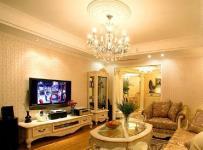 电视背景墙吊灯黄色吊顶欧式创意生活用品黄色换个角度看客厅效果图
