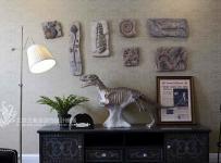 混搭雅居客廳背景墻裝修效果圖片
