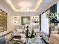 簡歐風格躍層客廳茶幾裝修效果圖