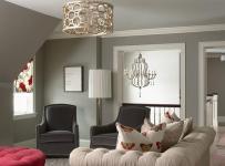 燈飾單身公寓躍層客廳沙發北歐小閣樓與你眉目傳情效果圖
