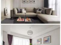 客廳沙發白色沙發背景墻裝修裝飾圖效果圖