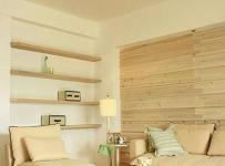 客厅沙发古典原木色沙发背景墙设计效果图