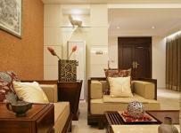 中式风格三居室大气原木色豪华型140平米以上客厅沙发效果图
