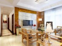 电视背景墙混搭风格二居室客厅电视墙装修效果图混搭风格吊顶图片