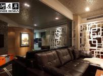 公寓混搭风格二居室富裕型客厅隔断沙发图片效果图