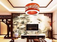 中式风格中式客厅电视背景墙效果图