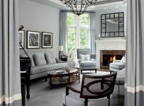 灯饰120㎡欧式别墅客厅沙发灰色地带里的洋气空间效果图