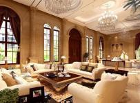 水晶吊燈歐式客廳家具沙發吊頂吊燈沙發簡約歐式風格別墅客廳吊頂裝修效果圖簡約歐式風格茶幾圖片
