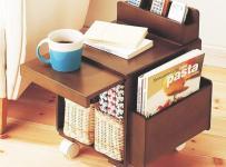 中式红色客厅里的小茶几效果图欣赏