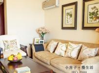 美式風格兩室一廳溫馨60平米客廳裝潢效果圖