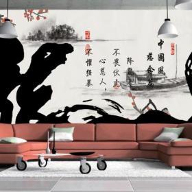 背景墻創意生活用品中式別墅客廳客廳背景墻沙發背景墻裝飾效果圖欣賞