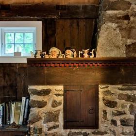 混搭風格客廳三層小別墅藝術家具壁爐效果圖