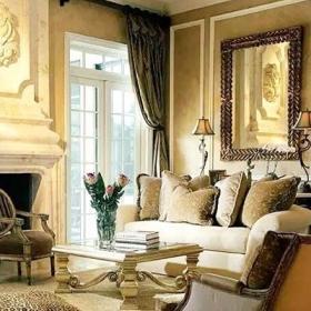 歐式風格優雅復古歐式客廳效果圖
