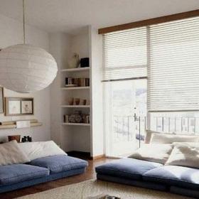 日式风格舒适日式休闲风简约客厅设计效果图