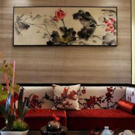 客厅沙发墙中式装饰挂画图片效果图