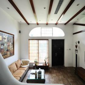 茶几吊顶装饰画沙发大户型别墅乡村风格客厅吊顶装修效果图乡村风格边几图片