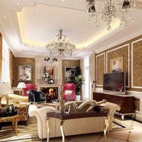 中国院子中式风格客厅装修效果图