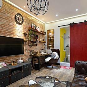 30-60平米美式風格實用超小戶型客廳裝修效果圖